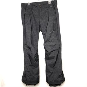 Columbia Womens dark gray & black size L ski pants